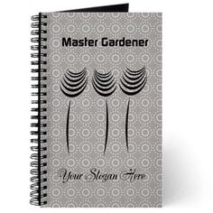 Master Gardener Hobby Crafts Journal, editable text, personalized gift.
