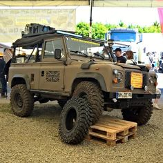 Land Rover Defender 90 Td5 soft top canvas military prepared.