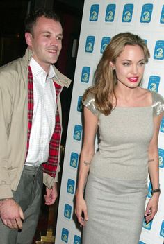Angelia Jolie with the forgotten first husband...