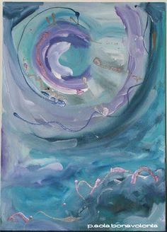 NUCLEO di Paola Bonavolontà 50x70 acrilico su tela 2010