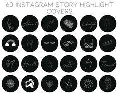 Lightroom, Black And White Instagram, Instagram Highlight Icons, Instagram Story, Instagram Apps, Instagram Logo, Etsy, Story Highlights, Creative People