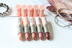 I am a huge fan of a lot of Rimmel eye products but strangely haven't tried any of their lipsticks so when I was sent the Rimmel Kate Moss Nude Collection I was super excited to try them since I have heard so much about their lipsticks. Rimmel Kate Moss Nude Collection* offers five nude shades in th
