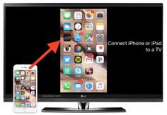 Connect an iPhone or iPad to a TV screen with HDMI