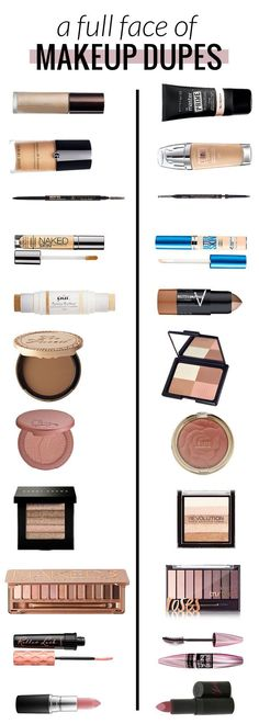 A Full Face of Makeup Dupes - Half High End, Half Drugstore by beauty blogger Meg O on the Go