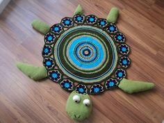 """Häkeln Teppich: """"Animal Schildkröte"""" - maomao - ich Herzaktion"""