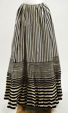 love this graphic striped skirt , late 19thc - bon marche