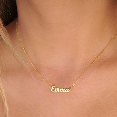Personalized Jewelry Tiny Gold Name Necklace-Personalized Necklace-Name Necklace-Custom Name Necklace-Name Jewelry-Personalized Name Plate Jewelry-Bridesmaid - Gold Name Necklace, Custom Name Necklace, Moon Necklace, Dainty Necklace, Personalized Necklace, Bar Necklace, Sterling Silver Necklaces, Custom Necklaces, Onyx Necklace