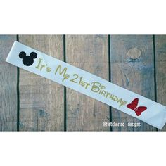 Check out this item in my Etsy shop https://www.etsy.com/listing/245894381/mickey-minnie-glitter-party-sash-its-my