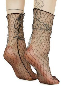 On The Fence Sheer Fishnet Socks