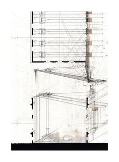 "The Transforming Roof Structure, 2011. Graphite and ink on Arches Cold Press 140lbs White watercolor paper. 22""x30""."