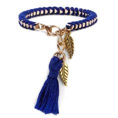 "Sole Society ""Chain Wrapped Tassel Bracelet"", $24.95"