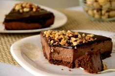 Chocolate Almond Mousse Cake Recipe by Vijay Nutella Mousse, Mousse Cake, Cold Cake, Square Cakes, Chocolate Glaze, Cake Tins, Afternoon Snacks, Delicious Chocolate, Let Them Eat Cake