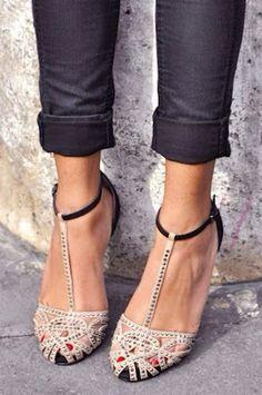 Gorgeous T-Strap Heels