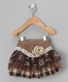 Adorable Mocha Tulle Lace Skirt - will have to make my own tutorial