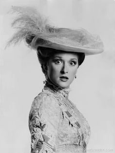1975: Streep as Miss Imogen Parrot in 'Trelawny of the Wells' at the Vivian Beaumont Theater. The production also starred Mandy Patinkin, John Lithgow and Mary Beth Hurt.