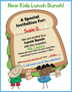 Lunch Bunch ideas and a cute lunch bunch invitation!  My students loved when I let them eat lunch with me in our classroom. This note is so much cuter than the one I had! Pinning.... just in case I teach again:-)