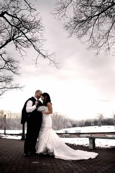 Winter Wedding   The Bride & Groom  ©Amber S. Wallace Photography