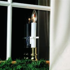 Adams Christmas Window Candle Clamps, Adams candle clamp is easy to use and holds standard electric/battery candles securely in place in Christmas Candle Holders, Rustic Candle Holders, Candle Holder Decor, Candle Sconces, Electric Window Candles, Christmas Window Decorations, Candle Making, Lights, Count