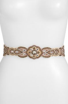 Glint 'Aeolian' Beaded Stretch Belt available at #Nordstrom