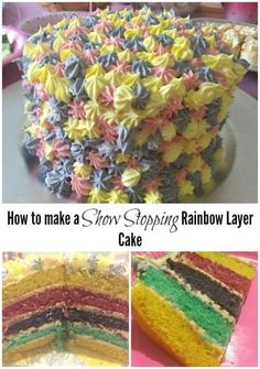 I wasn't blessed with many baking skills so all I'll say about the homemade rainbow layer Birthday cake is that if I can make it, you certainly can! Rainbow First Birthday, First Birthday Cakes, Homemade Mozzarella Sticks, Taco Pizza Recipes, Rainbow Layer Cakes, Easy Teriyaki Chicken, Cheesy Breadsticks, Baked Shrimp, Frugal Family