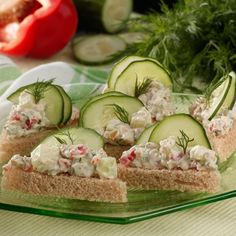 Cucumber Tea Sandwiches Recipe -My children wanted to plant a garden, and we ended up with buckets of cucumbers. When I tired of making pickles, I came up with these pretty, little sandwiches. We made 200 of them for a family gathering, and everyone wanted the recipe. —Kimberly Smith Brighton, Tennessee