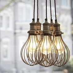 Orlando Vintage Balloon Cage Pendant Light - Dark Pewter