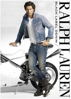 Nacho Figueras doubles down on denim for a 2015 Ralph Lauren advertisement.