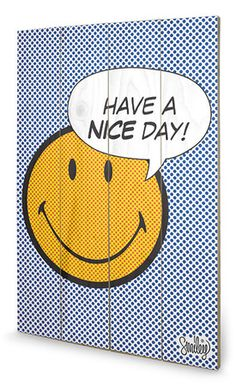 Have A Nice Day Dots Wood Sign Znak drewniany w AllPosters.pl