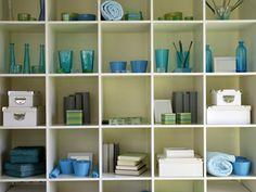 Easily Achieve a balance between storage, function and artistic display on the shelves