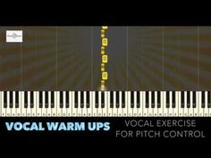 Here's an effective vocal exercise for greater pitch control! Remember to Warm up before attempting any vocal exercise or song. Warms up help prevent injurie. Singing Warm Ups, Vocal Warm Up Exercises, Vocal Range, Music Sing, Workout Warm Up, Piece Of Music, Music Covers, Piano Lessons, Get The Job