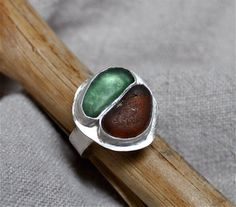 Beach Glass Ring by melialani on Etsy, $65.00