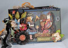Halloween In Wonderland Mini Album Alice In by KillamCreativePaper