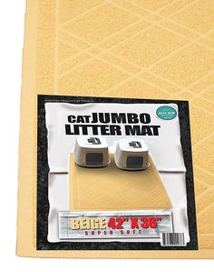 iPrimio - Cat Litter Mat with Plaid Design - Phthalate and BPP Free - Jumbo (42'x 36') ** See this great product. #PetCats