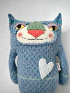Sweater Kitty by sweetpoppycat on Etsy
