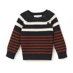 Image Striped Crew Neck Jumper, 1 Month-3 Years La Redoute Collections