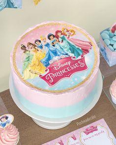 Torta Princess, Princess Smash Cakes, Princess Theme Cake, Princess Cupcake Toppers, Rapunzel Birthday Cake, Disney Princess Birthday Cakes, 3rd Birthday Cakes, Disney Birthday, 4th Birthday
