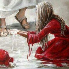 I need Your living water Jesus ✞⛪✞ God and Jesus Christ Bible Pictures, Jesus Pictures, Braut Christi, Bible Forgiveness, Jesus E Maria, Christian Artwork, Jesus Christus, Bride Of Christ, Prophetic Art