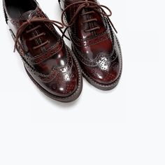 ALL I'VE EVER WANTED IN A KIDS SHOE ZARA - KIDS - PUNCHED LEATHER BLUCHER