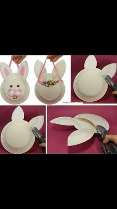 Cuuute! Id hang it off the bedroom doors empty and then fill in the evening before easter. Or could be used in place of a basket for an easter egg hunt as long as the eggs are small