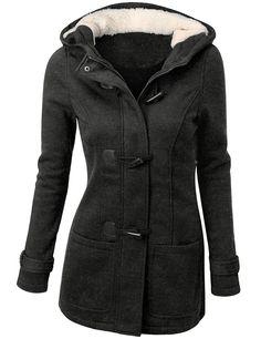 Doublju Wool Blended Single Button Classic Coat Darkbeige Large, KWOCO02_DarkBeige, Large