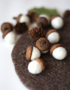 delica:  felt acorns...I just want to pinch their little cheeks they're so cute