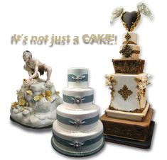 Wedding Cakes, sculpted cakes, and tiered cakes..www.crazycakes.com