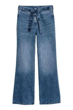 Wide High Waist Jeans - Denimkék - NŐI   H&M HU