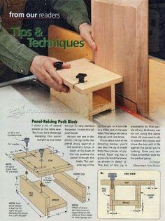 #865 Making Panel-Raising Push Block - Cabinet Door Construction Techniques