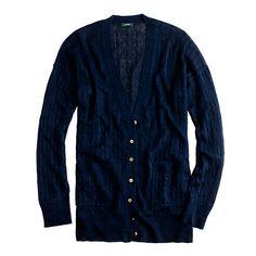 JCrew Linen cable-knit cardigan - $55
