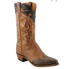 LUCCHESE 1883 N1627 Mens Western Cowboy Boots Shoes Buffalo Leather Wingtip Brown (Apparel)  http://skyyvodkaflavors.com/amazonimage.php?p=B003H814IY  B003H814IY