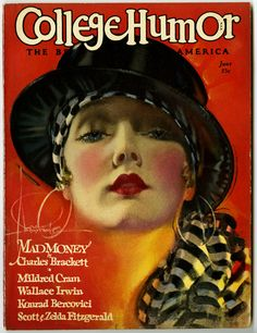 Antique College Humor Magazine June 1928 Rolf Armstrong Pin Up Cover RARE | eBay