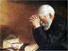 Daily Bread Man Praying At Dinner. Grandparents have this painting. I've always wanted it for my home.