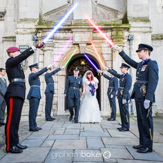 RAF Military Wedding London with Star Wars Lightsabers | Graham Baker Photography London Wedding Photographer | Just for Fun