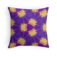 """""""Background texture My Dreams"""" Throw Pillows by floraaplus 